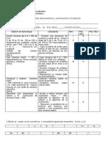 Diagnostico Matematica 3º Basico