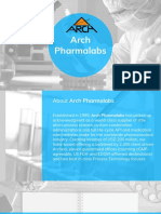 Arch Pharmalabs - Manufacturing