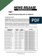 Prostitution Stings Net 35 Arrests