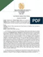 Acta final del juicio contra Nicolás Maduro