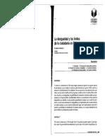 la Desigualdad y Los Límites de La Ciudadanía en Chile, María Ignacia Fernández