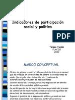 Indicadores de Participación Política de las Mujeres en Chile, Teresa Valdes