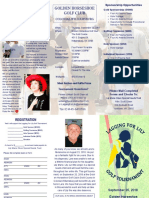 2018 Lagging for Lily Golf Tournament Brochure