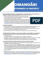 Recomandari-protestatari