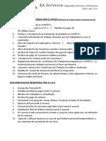 Documentos Requeridos en Inspecciones Del M.J.T.