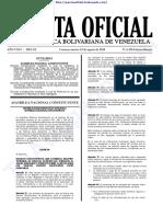 Gaceta Oficial Extraordinaria Nº 6.396