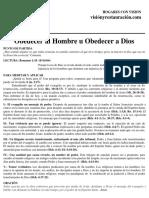 HCV - Obedecer Al Hombre u Obedecer a Dios.  Agosto 19, 2018