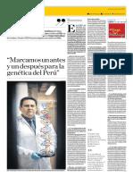 Marcamos Un Antes y Un Después Para La Genética Del Perú