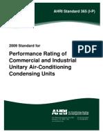 AHRI-365_Unitary Air Conditioning Units