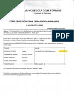 2016 19 Ottobre Giunta 134 Assente Caltanisetta Convenzione Prefettura Palermo Difesa Legalita' Tentativi Infiltrazioni Mafiose