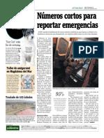 Números Cortos Para Reportar Emergencias