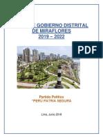 Plan de Gobierno Distrital Miraflores - Alex Von Ehren