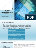 Cash and Cash Equivalents Audit Procedures CONDINO