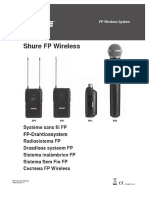 Shure FP Wireless System Manual