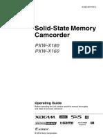 Sony PXW-X160 Manual