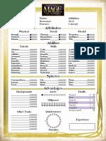 Mage [20th Anniversary] - Quickstart Character Sheet.pdf