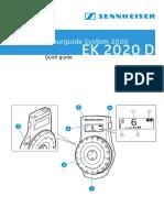 EK 2020D Owners Manual