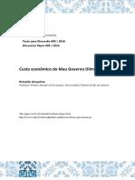 Reinaldo Gonalves - Custo Econmico Do Mau Governo Dilma Rousseff