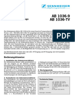 AB1036-9 AB1036-TV Owner Manual