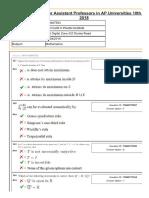 Appsc Asst Pro QP