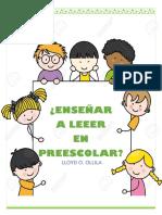 Enseñar a Leer en Preescolar Analisis