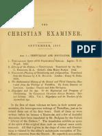 J. W. Chadwick, Tertullian and Montanism