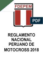 Reglamento Motocross Cms-fdepem 2018 Final