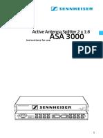 ASA 3000 Owners Manual