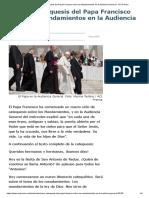 Primera Catequesis Del Papa Francisco Sobre Los Mandamientos en La Audiencia General - ACI Prensa