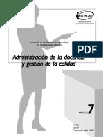 Modulo7 Admón. de La Docencia y Gestion de Calidad