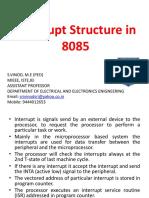 Interrupt Structure in 8085