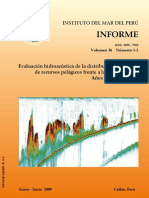 Evaluacion Hidroacustica de La Distribucion y Biomasa de Recursos Pelagicos Frente a La Costa Peruana- IMARPE