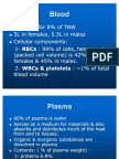 Physiology, Lecture 4, Blood (slides)