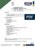 Guía No 1. Electrostática