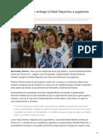21-08-2018- Claudia Pavlovich Entrega Unidad Deportiva a Jugadores de Hermosillo - Tribuna