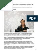 21-08-2018 - Claudia Ruiz Massieu rindió protesta como presidenta del PRI - Eleconomista