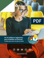 eBook 15 Melhores Segmentos Para Trabalhar Na Internet