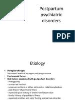 Postpartum Psychatric Disorders