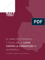 Icefi - Impacto Economico Lucha Contra La Corrupcion Guatemala