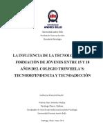 Natalia Rojas LA INFLUENCIA DE LA TECNOLOGÍA EN LA FORMACIÓN DE JÓVENES