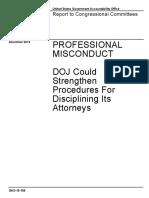 Gao Doj Misconduct