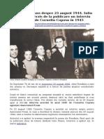 Despre 23 August 1944 - Interviul acordat de Coposu