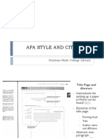 Apa Style and Citations