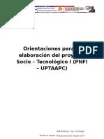 Estructura de Proyecto Socio - Tecnológico Año I | PNFI