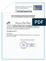 Inglés Preintermedio