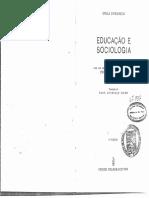 Emile Durkheim - Educação e Sociologia.pdf