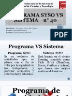 Programa de Seguridad y Salud Ocupacional vs Sistema