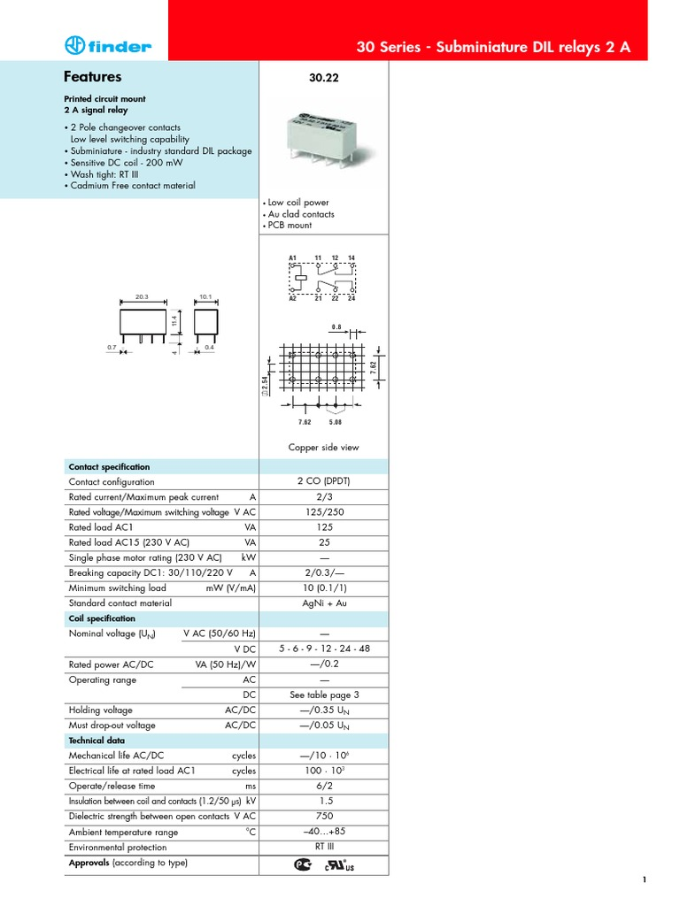 Relais Finderpdf Relay Insulator Electricity Switches Rotary Ac Switch Off 3 Positions 240v 65a
