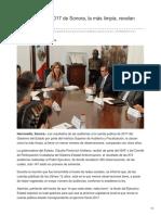 22-08-2018 - Cuenta pública 2017 de Sonora la más limpia revelan auditorías - Tribuna