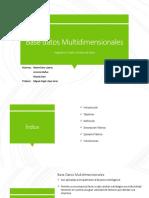 Base de Datos Multidimensionales